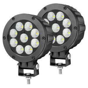 2x 5 Cree Round Led Flood Lights Driving Pods Heavy Duty Off Road Truck 4wd 12v