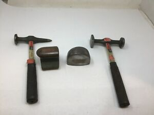 Vintage Sears Craftsman Auto Body Hammer Dolly Lot 4pc Set Some Nos Free Ship