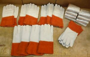 Lot Of 4 Pairs 5420lck Leather Cow Hide Welding Gloves Xxl Mig tig Free S