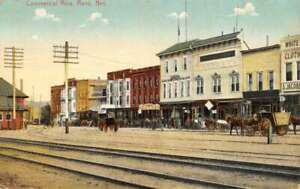 Reno Nevada Commercial Row Street View Antique Postcard KK1775 $16.75