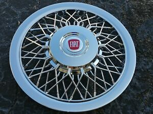 15 Custom Chrome Wire Spoke Hubcaps Wheelcovers For Fiat 500 Brand New Set Of 4