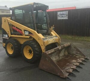 Cat 216b Skid Steer Loader Diesel Enclosed Cab 1890 Hours Good Condition