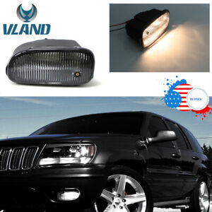 Fog Lights W Bulbs For 1999 2003 Jeep Grand Cherokee Clear Direct Replacement