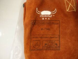 Weldas Company Lava Brown 42 Bib Apron Side Split Leather