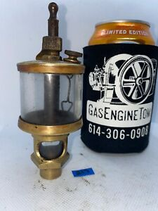 Michigan Lubricator Co 48a32b Brass Cylinder Oiler Hit Miss Gas Engine Antique