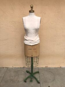 Rare Antique Wolf Model Ny 1940 Mannequin Dress Form