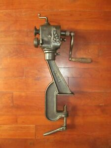 Vtg Niagara Sheet Metal Bead Roller With Stand