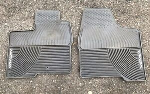 Toyota Sienna Oem Front Two Rubber Floor Mats 2004 2005 2006 2007 2008 2009 2010