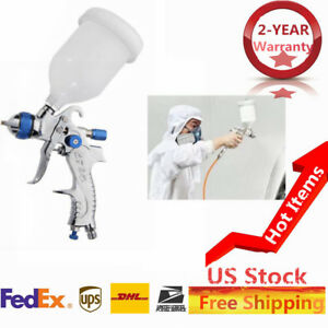 Air Spray Gun Hvlp Set Nozzle Paint Touch Up Gravity Feed Atomization 2mm Us Top