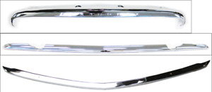1949 1950 Chevrolet Chrome Top Center Lower Grille Moulding Trim Bars
