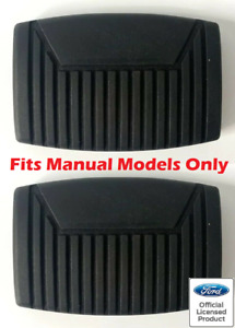 Pair Brake Clutch Pedal Pads For 1975 2008 Ford F 150 Manual Transmission