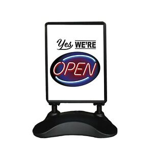 Outdoor Message Board Sidewalk Sign Open Drive Thru Take Out Sign