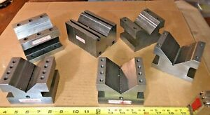 Machinist Precision V blocks Various Sizes 5 X 3 1 2 X 2 3 4 Largest One 5 Other