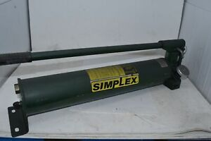 Simplex P140 Heavy Duty Steel Hand Pump For Single Acting Cylinder 10 000 Psi