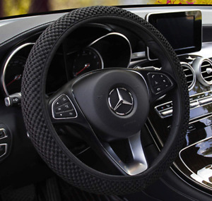 15 Black Universal Protection Car Steering Wheel Cover Breathable Anti slip