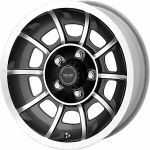 4 15x7 Black Wheel American Racing Vintage Vector Se Vn47 Blank 0