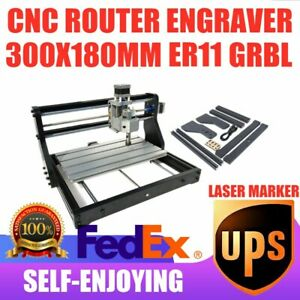 Cnc3018 Engraving Router 3axis Laser Carving Milling Diy Cutting Marking Machine