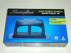 Swingline Smarttouch 45 3 hole Punch 45 Sheet Capacity Same Day Shipping