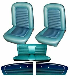 1966 Mustang Coupe Seat Cover Upholstery And Door Panel Set Your Color Choice