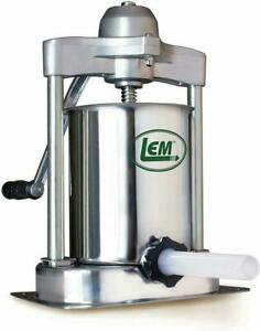 Lem Products Kitchen Sausage Stuffer Vertical Manual Stainless Steel 15 Pound