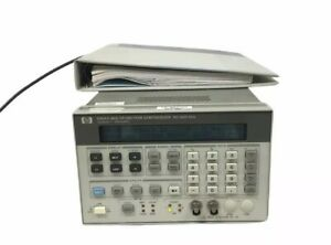 Hp Agilent 8904a Multifunction Synthesizer W Option 001 Dc 600 Khz W Manual