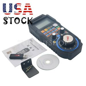 6 axis Cnc Mach3 Wireless Electronic Handwheel Manual Controller Mpg 100ppr us