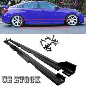 Fits 2016 2019 Honda Civic 4dr Sedan Fk8 Type R Style Black Side Skirt Extension