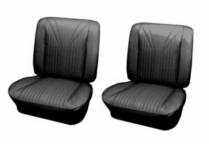 1965 Impala Ss Front Bucket Seat Upholstery By Distinctive Ind In Black