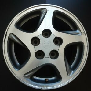 97 98 99 Toyota Avalon 15x6 Factory Oem 5spoke Machined Charcoal Wheel Rim R55