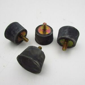 Lot Of 4 Threaded Rubber Vibration Isolators Studed Mounts Tapered 5 16 18