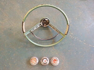 1960 1961 Plymouth Valiant Steering Wheel Horn Ring Button Dodge Lancer