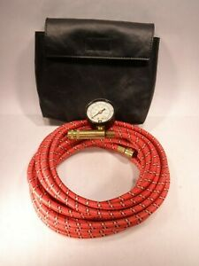 Gm On Board Air Compressor Red Air Hose Tire Inflator Gauge With Case
