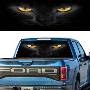 Cat Eyes Rear Window Graphic Decal Tint Sticker