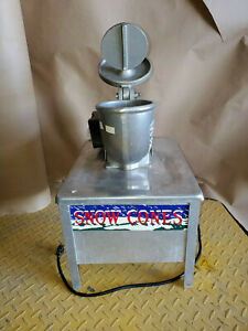 Echols High Speed Ice Shaver Model 103 Commercial Snow Cone Machine On Stand
