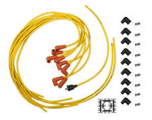 3009acc Accel Spark Plug Wire Set 7mm Super Stock Copper Universal 90 Yellow