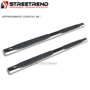 For 99 16 Ford F250 f350 Sd Crew Cab 5 Oval Side Step Bars Running Board Chrome