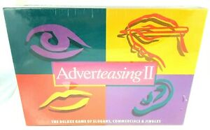Adverteasing II Deluxe Board Game Of Slogans Commercials & Jingles Trivia Game $21.15