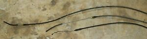 Three Original Gm Emergency Parking Brake Cables For 1963 Corvette Nice