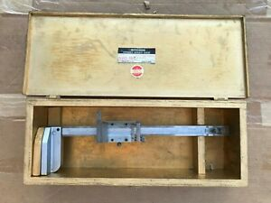 Mitutoyo 520 155 12 Vernier Height Gage W Wood Case Stainless