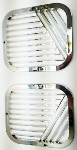 Vintage Avanti Studebaker Parts Air Outlet Grills Chrome N O S Pair