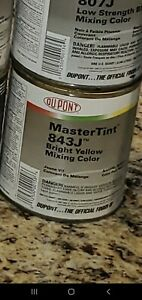 Dupont Mastertint Cromax Qt 843j Bright Yellow Quart Chromabase