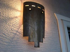 Vintage Modern Tudor Gothic Exterior Steel Porch Light Wall Sconce Medieval Mask