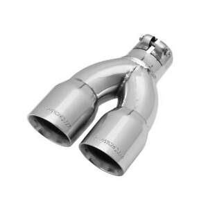15384 Flowmaster Exhaust Tip 3 Dual Angle Cut Polished Ss Fits 2 25 Clamp On