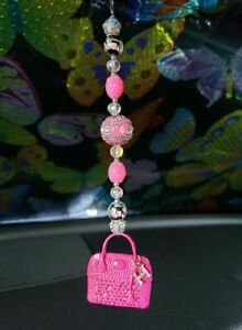Pink Purse Pendant Rear View Mirror Car Truck Hanger Christmas Ornament Charm
