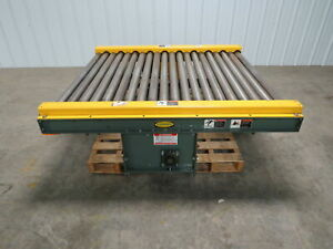 Hytrol 47 1 2 w X 60 l 5 Live Powered Pallet Case Roller Conveyor Qty Available