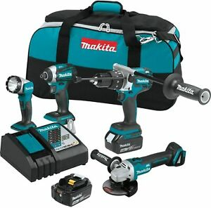 Makita Xt451t 18v Lxt Lithium ion Brushless Cordless 4 pc Combo Kit 5 0ah