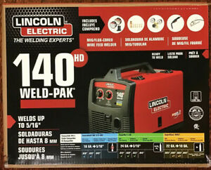 Lincoln Electric Weld pak 140hd K2514 1 Wire Feed Mig Welder New
