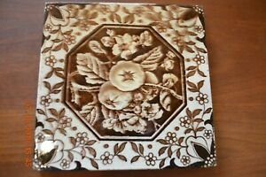 Victorian Antique Aesthetic Tile Browns White Persimmons