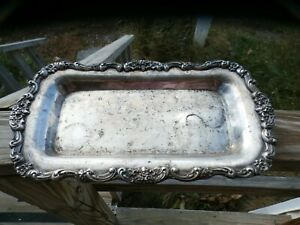 Epca Silver Plated Serving Plate Platter Charger By Poole Ornate W Flowers