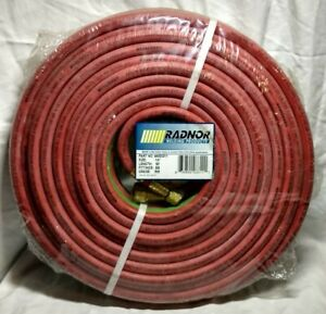 Radnor 1 4 X 50 Foot Grade Rm Twin Welding Hose With Bb Fittings 64003311